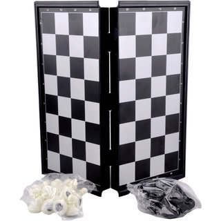 Magnetic Chess Board Set Educational Toy for Kids and Adults Gameplay 10 inch