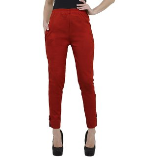 Ruby Cotton Red Plazo Pants