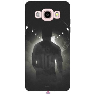 Snooky Printed 1050,messi black and white Football Mobile Back Cover of Samsung Galaxy J5 (2016) - Multi