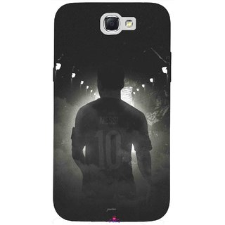 Snooky Printed 1050,messi black and white Football Mobile Back Cover of Samsung Galaxy Note 2 - Multi