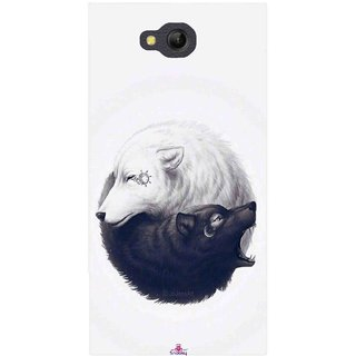 Snooky Printed 1132,Yin Yang White Mobile Back Cover of LYF Wind 4 - Multi