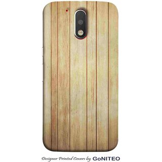 Printed Mobile Phone Back Cover Case for Moto G4 Plus by GoNITEO || Wood || Texture || Light ||