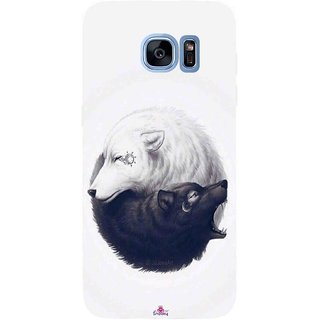 Snooky Printed 1132,Yin Yang White Mobile Back Cover of Samsung Galaxy S7 Edge - Multi