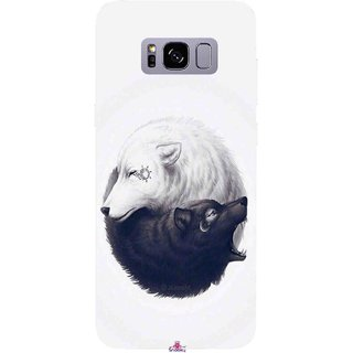 Snooky Printed 1132,Yin Yang White Mobile Back Cover of Samsung Galaxy S8 - Multi