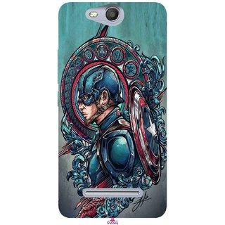 Snooky Printed 973,Captain Ameria Avenger Mobile Back Cover of Micromax Bolt Q392 - Multi
