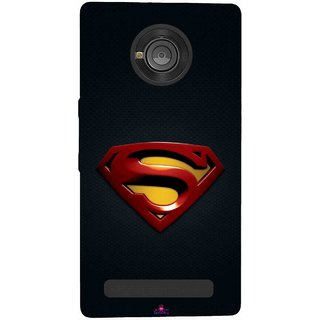 Snooky Printed 962,Black Superman Logo Mobile Back Cover of Micromax Yu Yuphoria - Multi