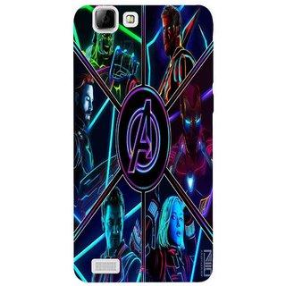 Snooky Printed 949,Avengers Hero Mobile Back Cover of Vivo V1 - Multi