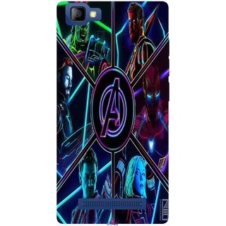Snooky Printed 949,Avengers Hero Mobile Back Cover of LYF Flame 8 - Multi
