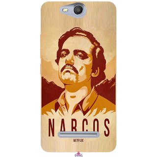Snooky Printed 1063,Narcos Mobile Back Cover of Micromax Bolt Q392 - Multi