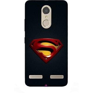 Snooky Printed 962,Black Superman Logo Mobile Back Cover of Lenovo K6 Power - Multi