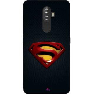 Snooky Printed 962,Black Superman Logo Mobile Back Cover of Lnv K8 Plus - Multi