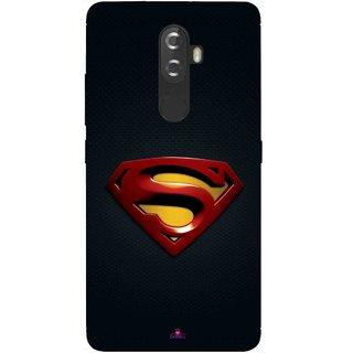 Snooky Printed 962,Black Superman Logo Mobile Back Cover of Lenovo K8 - Multi