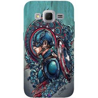 Snooky Printed 973,Captain Ameria Avenger Mobile Back Cover of Samsung Galaxy Core Prime - Multi