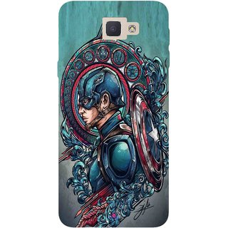 Snooky Printed 973,Captain Ameria Avenger Mobile Back Cover of Samsung Galaxy J5 Prime - Multi