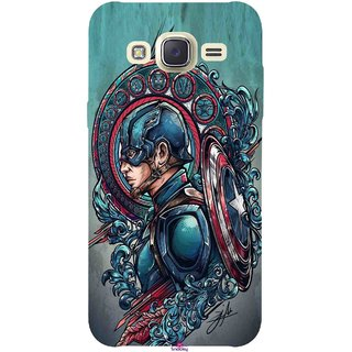 Snooky Printed 973,Captain Ameria Avenger Mobile Back Cover of Samsung Galaxy J5 - Multi
