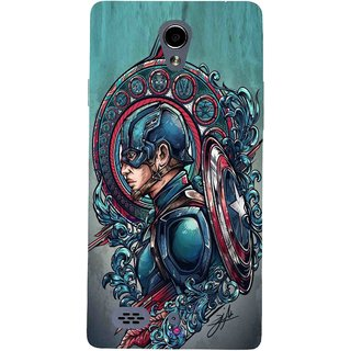 Snooky Printed 973,Captain Ameria Avenger Mobile Back Cover of Oppo Joy 3 - Multi