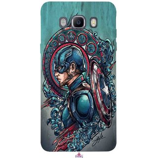 Snooky Printed 973,Captain Ameria Avenger Mobile Back Cover of Samsung Galaxy On8 - Multi