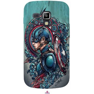 Snooky Printed 973,Captain Ameria Avenger Mobile Back Cover of Samsung Galaxy S Duos S7562 - Multi