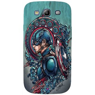 Snooky Printed 973,Captain Ameria Avenger Mobile Back Cover of Samsung Galaxy S3 - Multi