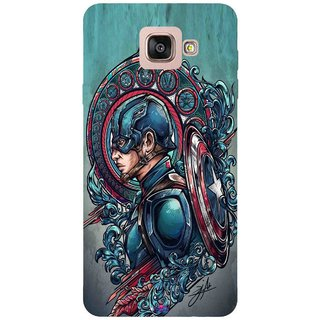Snooky Printed 973,Captain Ameria Avenger Mobile Back Cover of Samsung Galaxy A7 2016 - Multi