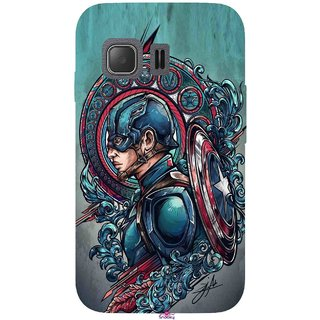 Snooky Printed 973,Captain Ameria Avenger Mobile Back Cover of Samsung Galaxy Young 2 - Multi