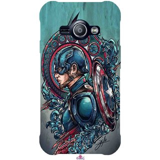 Snooky Printed 973,Captain Ameria Avenger Mobile Back Cover of Samsung Galaxy Ace J1 - Multi