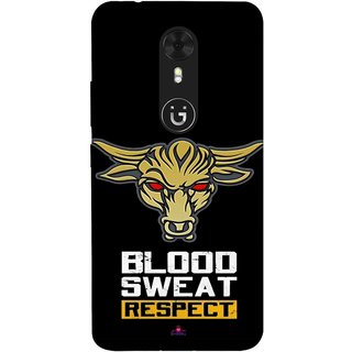 Snooky Printed 964,Blood Sweat Respect Mobile Back Cover of Gionee A1 - Multi