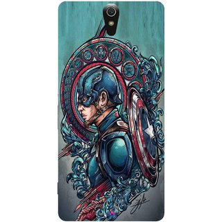 Snooky Printed 973,Captain Ameria Avenger Mobile Back Cover of Sony Xperia C5 - Multi
