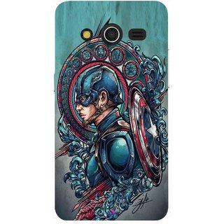 Snooky Printed 973,Captain Ameria Avenger Mobile Back Cover of Samsung Galaxy Core 2 - Multi