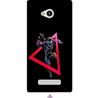 Snooky Printed 1064,Neon Human Avenger Mobile Back Cover of Lava Flair Z1 - Multi