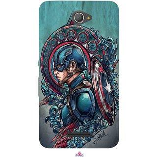 Snooky Printed 973,Captain Ameria Avenger Mobile Back Cover of Sony Xperia E4 - Multi