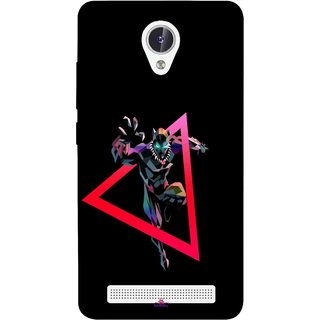 Snooky Printed 1064,Neon Human Avenger Mobile Back Cover of Lava Iris Fuel F1 - Multi