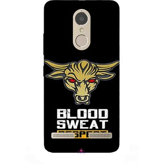 Snooky Printed 964,Blood Sweat Respect Mobile Back Cover of Lenovo K6 Power - Multi