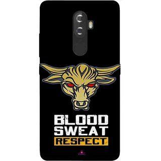 Snooky Printed 964,Blood Sweat Respect Mobile Back Cover of Lnv K8 Plus - Multi