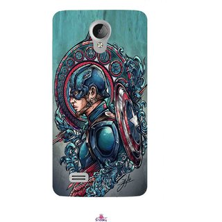 Snooky Printed 973,Captain Ameria Avenger Mobile Back Cover of Vivo Y21 - Multi