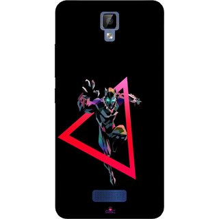 Snooky Printed 1064,Neon Human Avenger Mobile Back Cover of Gionee P7 Max - Multi