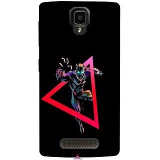 Snooky Printed 1064,Neon Human Avenger Mobile Back Cover of Lenovo A1000 - Multi