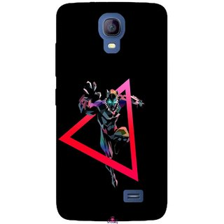 Snooky Printed 1064,Neon Human Avenger Mobile Back Cover of Micromax Bolt Q383 - Multi