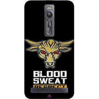 Snooky Printed 964,Blood Sweat Respect Mobile Back Cover of Asus Zenfone 2 - Multi