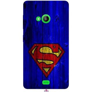 Snooky Printed 965,Blue Superman Logo Mobile Back Cover of Nokia Lumia 535 - Multi