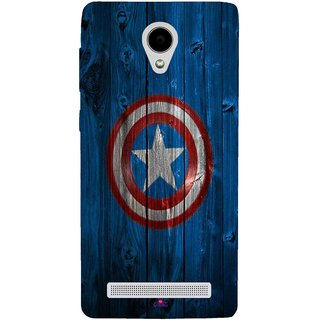 Snooky Printed 974,Captain America Logo Mobile Back Cover of Vivo Y28 - Multi