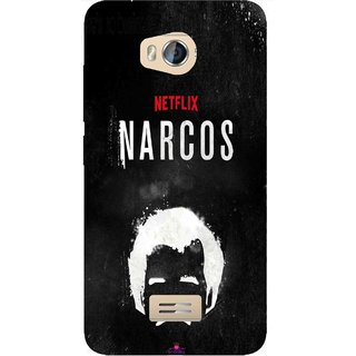Snooky Printed 1065,Netflix Narcos Mobile Back Cover of Micromax Bolt Q336 - Multi