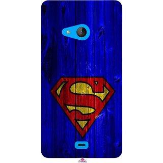 Snooky Printed 965,Blue Superman Logo Mobile Back Cover of Nokia Lumia 540 - Multi