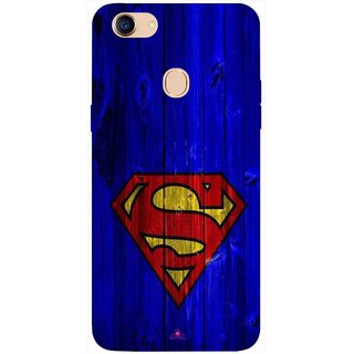 Snooky Printed 965,Blue Superman Logo Mobile Back Cover of Oppo F5 - Multi