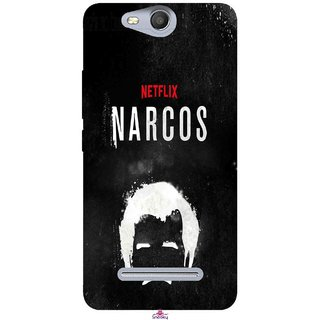 Snooky Printed 1065,Netflix Narcos Mobile Back Cover of Micromax Bolt Q392 - Multi