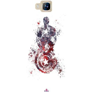 Snooky Printed 975,Captain America painting Mobile Back Cover of LYF Wind 2 - Multi