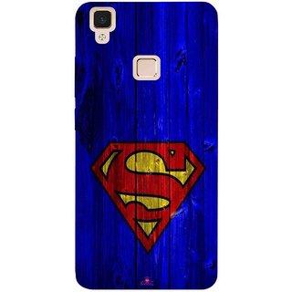 Snooky Printed 965,Blue Superman Logo Mobile Back Cover of Vivo V3 Max - Multi