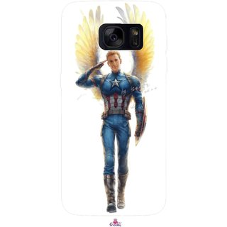 Snooky Printed 976,Captain America wing Mobile Back Cover of Samsung Galaxy S7 - Multi