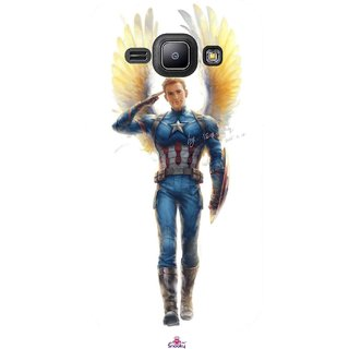 Snooky Printed 976,Captain America wing Mobile Back Cover of Samsung Galaxy J1 - Multi