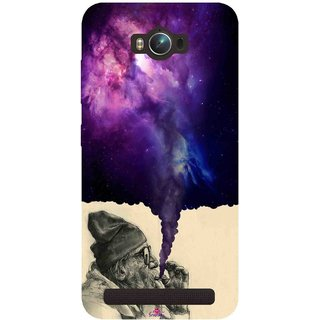 Snooky Printed 1067,old man smoking weed Mobile Back Cover of Asus Zenfone Max - Multi